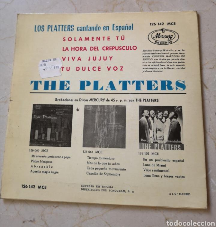 Discos de vinilo: Los Platters cantando en español single - Foto 2 - 175922392