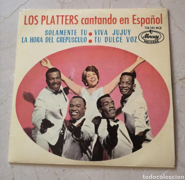 LOS PLATTERS CANTANDO EN ESPAÑOL SINGLE (Música - Discos - Singles Vinilo - Solistas Españoles de los 50 y 60)