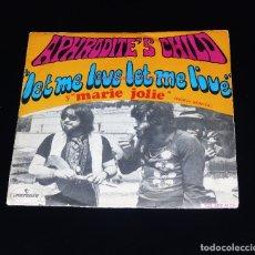 Discos de vinilo: APHRODITE´S CHILD - LET ME LOVE LET ME LIVE & MARIE JOLIE AÑO 1969-- ( NM OR M - ). Lote 175925273