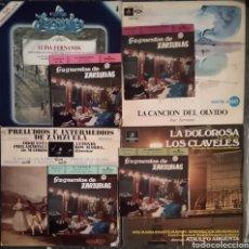 Discos de vinilo: LOTE ZARZUELA 5 LP + 4 SINGLE FRAGMENTOS ZARZUELA. Lote 175935113