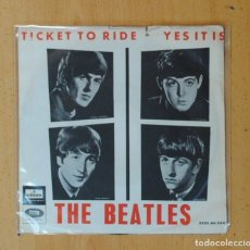 Disques de vinyle: THE BEATLES - TICKET TO RIDE / YES IT IS - SINGLE. Lote 175957143
