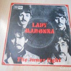 Discos de vinilo: THE BEATLES, SG, LADY MADONNA + 1, AÑO 1968. Lote 175975432