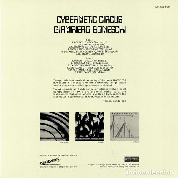 Discos de vinilo: GIAMPIERO BONESCHI - CYBERNETIC CIRCUS - 2018 CHAPTER 1 / VINILISSSIMO 180 GRAM VINYL REISSUE - Foto 2 - 175978574