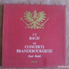 Discos de vinilo: J.S. BACH - SIX CONCERTS BRANDEBOURGEOIS - KURT REDEL ERATO CAJA 2 LP.. Lote 175985652