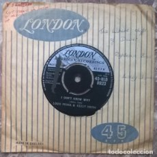 Discos de vinilo: LOUIS PRIMA & KELLY SMITH. I DON'T KNOW WHY/ BEI MIR BIST DU SCHON. LONDON, UK 1959 SING 45-HLD 8923. Lote 175998619
