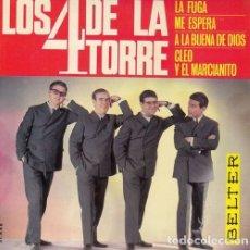 Discos de vinilo: LOS 4 DE LA TORRE - LA FUGA - EP DE VINILO DE 1966. Lote 176007644