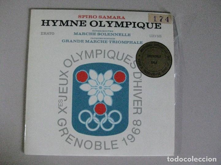 DISCO **HYMNE OLYMPIQUE GRENOBLE 1968** (Música - Discos - Singles Vinilo - Otros estilos)