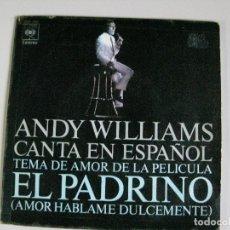 Discos de vinilo: DISCO ** ANDY WILLIAMS CANTA EN ESPAÑOL**. Lote 176009273