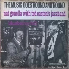 Discos de vinilo: NAT GONELLA WITH TED EASTON'S JAZZBAND. THE MUSIC GOES 'ROUND AND 'ROUND/ BLUEBERRY HILL. CNR 1975. Lote 176018214