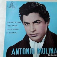 Discos de vinilo: DISCO DE ANTONIO MOLINA DEL AÑO 1961. Lote 176023674