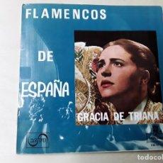 Discos de vinilo: MAXISINGLE DE GRACIA DE TRIANA DEL AÑO 1965. Lote 176024329