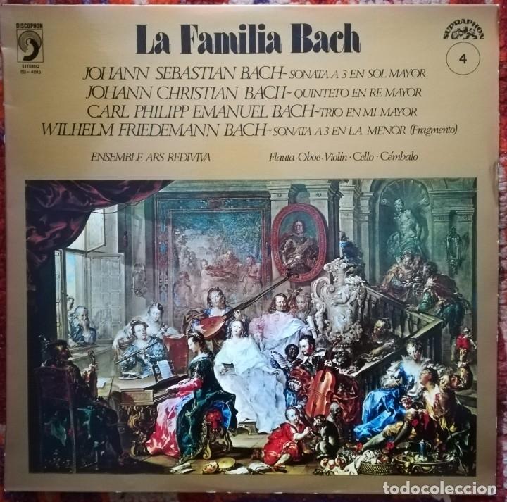 LA FAMILIA BACH.OBRAS INTERPRETADAS POR EL ENSEMBLE ARS REDIVIVA (Música - Discos de Vinilo - EPs - Clásica, Ópera, Zarzuela y Marchas)