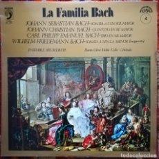 Discos de vinilo: LA FAMILIA BACH.OBRAS INTERPRETADAS POR EL ENSEMBLE ARS REDIVIVA. Lote 176047768
