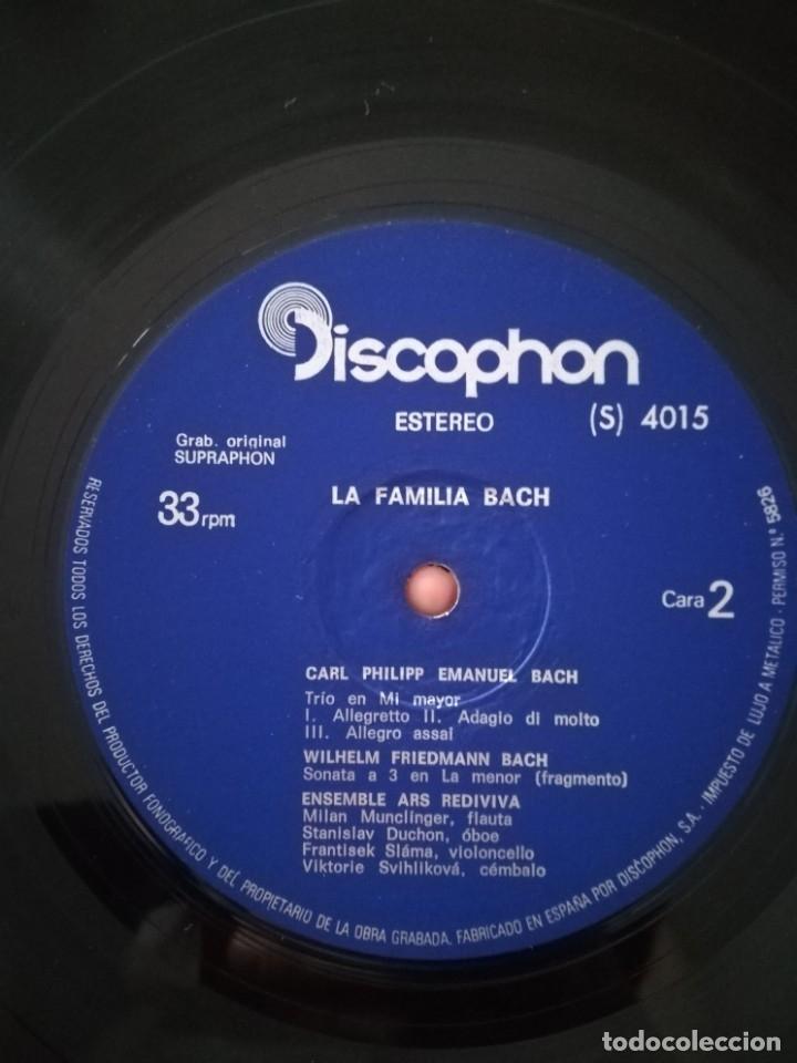 Discos de vinilo: La familia Bach.Obras interpretadas por el Ensemble Ars Rediviva - Foto 3 - 176047768