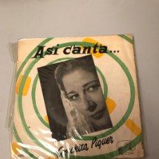 Discos de vinilo: CONCHITA PIQUER. Lote 176049607