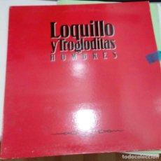 Discos de vinilo: LOQUILLO Y TROGLODITAS - HOMBRES - HISPAVOX 1991 - LP ORIGINAL - DESPLEGABLE CON TEXTOS DE CANCIONES. Lote 176051682