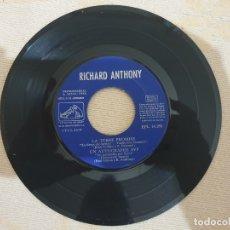 Discos de vinilo: RICHARD ANTHONY. SIN CAJA. Lote 176054623