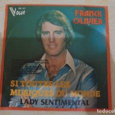 Discos de vinilo: FRANK OLIVIER. Lote 176055168