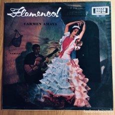 Discos de vinilo: CARMEN AMAYA FLAMENCO LP SABICAS. DECCA EDIC ESPAÑA 1966. Lote 176057655