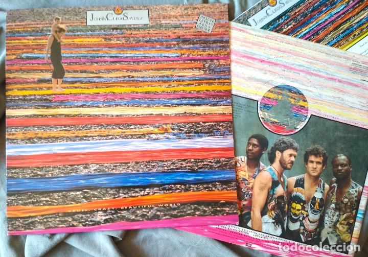 JOHNNY CLEGG & SAVUKA - CRUEL CRAZY BEAUTIFUL WORLD. LP 1990. (Música - Discos - LP Vinilo - Pop - Rock Extranjero de los 90 a la actualidad)