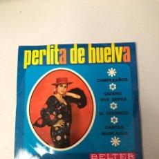 Discos de vinilo: PERLITA DE HUELVA. Lote 176064877