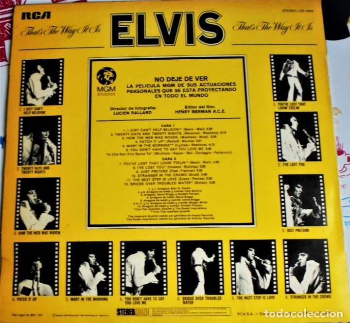 Discos de vinilo: ELVIS PRESLEY ~ THAT'S THE WAY ITIS ~RCA VICTOR LSP 4445 - ESPAÑA 1971 - Foto 2 - 176072574