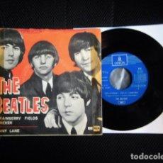 Discos de vinilo: BEATLES SINGLE EMI ODEON ESPAÑA REFERENCIA 1J VINILO SIN USO MARAVILLA. Lote 176073333