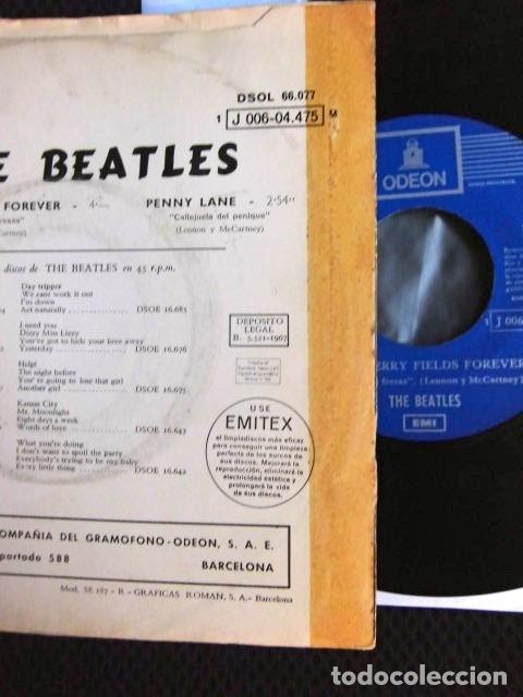 Discos de vinilo: BEATLES SINGLE EMI ODEON ESPAÑA REFERENCIA 1J VINILO SIN USO MARAVILLA - Foto 6 - 176073333