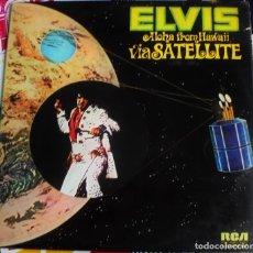 Discos de vinilo: ELVIS PRESLEY ~ ALOHA FROM HAWAII VIA SATÉLITE - ESPAÑA 1973 PORTADA DOBLE. Lote 176074600