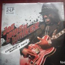 Discos de vinilo: JOE LOUIS WALKER EVERYBODY WANTS A PIECE 2 LP PROVOGUE 2005 PRECINTADATO. Lote 176081372