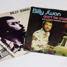 Discos de vinilo: LOTE DOS VINILOS -----BILLY SWAN ----- DON´T BE CRUEL & I CAN HELP. Lote 176082579