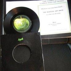 Discos de vinilo: BEATLES ANUNCIO APPLE ENVIO CORREO ENGLAND NUEVO SINGLE GET BACK ORIGINAL MUY RARO. Lote 176087770