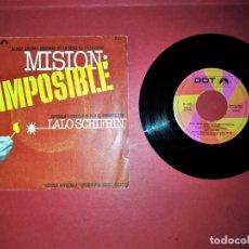 Discos de vinilo: LALO SCHIFRIN MISION IMPOSIBLE SINGLE 1968 HISPAVOX EDICION ESPAÑOLA THE COMPLOT. Lote 176098719