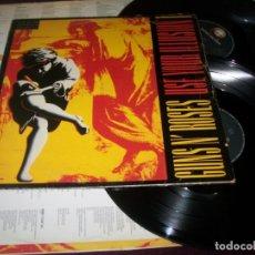Discos de vinilo: GUNS N´ ROSES - USE YOUR ILLUSION I - DOBLE LP. GEFFEN RECORDS EDICION ORIGINAL DE 1991 CON LETRAS. Lote 176098988