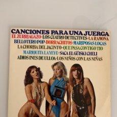 Discos de vinilo: DISCO DE VINILO - CANCIONES PARA UNA JUERGA - GRAMUSIC VINTAGE RETRO. Lote 176103412