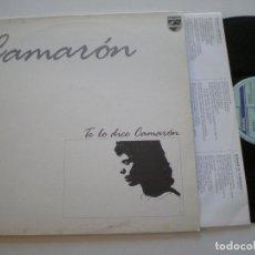 Discos de vinilo: CAMARON DE LA ISLA - TE LO DICE... - LP PHILIPS 1991 . Lote 176112382