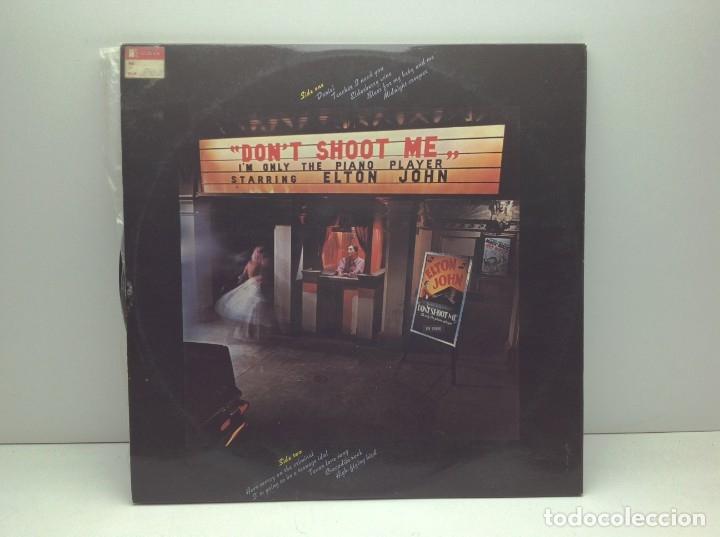 Discos de vinilo: LP - VINILO - DISCO - DON'T SHOOT ME I'M ONLY THE PIANO PLAYER STARRING - ELTON JOHN - Foto 6 - 176119067