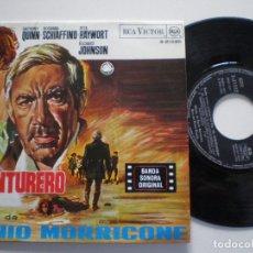 Discos de vinilo: ENNIO MORRICONE - L'AVENTURERO - EP RCA ESPAÑA 1968 // BRUNO NICOLAI BANDA SONORA OST SOUNDTRACK BSO. Lote 176119658