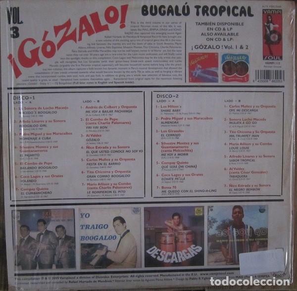 Discos de vinilo: VARIOUS - ¡GÓZALO! BUGALÚ TROPICAL VOL. 3 - 2XLP - Foto 2 - 176131529