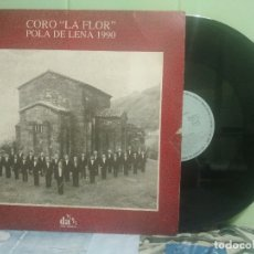 Discos de vinilo: CORO LA FLOR POLA LENA LP SFA 1990 ASTURIAS. Lote 176132294