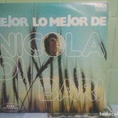 Discos de vinilo: NICOLA DI BARI - LO MEJOR DE NICOLA DI BARI - 2 LP PEPETO. Lote 176133874