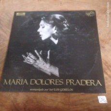 Discos de vinilo: MARÍA DOLORES PRADERA. Lote 176137533