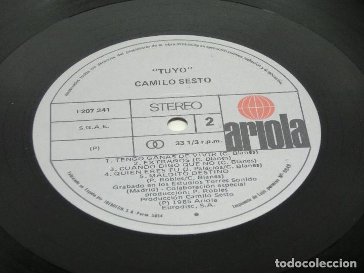 Discos de vinilo: LP - CAMILO SESTO - TUYO - 1985 - Foto 8 - 176144053