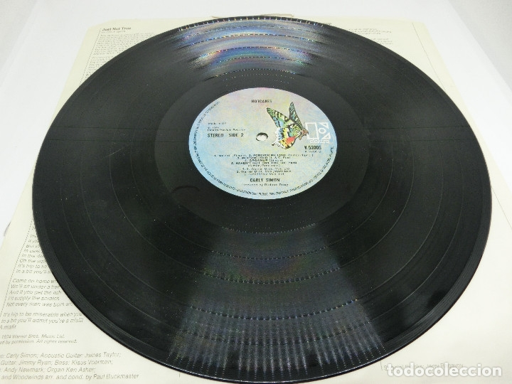 Discos de vinilo: LP - CARLY SIMON - HOTCAKES - GATEFOLD - CARPETA DOBLE - FUNDA CON LETRAS - 1974 - Foto 6 - 176144430