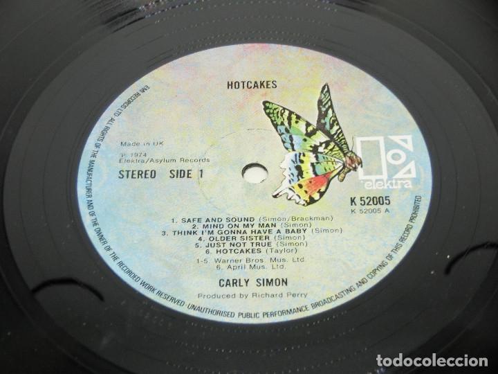 Discos de vinilo: LP - CARLY SIMON - HOTCAKES - GATEFOLD - CARPETA DOBLE - FUNDA CON LETRAS - 1974 - Foto 9 - 176144430