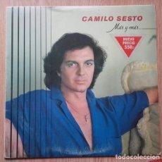 Discos de vinilo: CAMILO SESTO - MAS Y MAS - LP ARIOLA REEDICION 1982. Lote 176153082