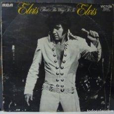 Discos de vinilo: ELVIS PRESLEY //THAT'S THE WAY IT IS//1971//(VG VG). LP. Lote 176156878