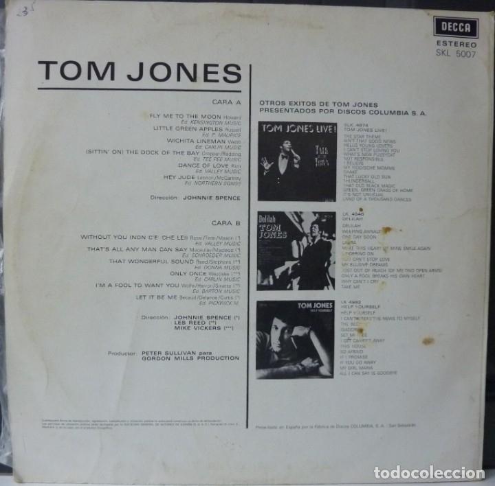 Discos de vinilo: TOM JONES // THIS IS TOM JONES // 1969 // (VG VG). LP - Foto 2 - 176160918