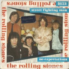 Discos de vinilo: ROLLING STONES. STREET FIGHTING MAN / NO EXPECTATIONS. SPAIN 1968. Lote 176168887