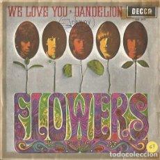 Discos de vinilo: THE ROLLING STONES. WE LOVE YOU - DANDELION. ORIGINAL SPAIN 1967. DECCA ME 342. Lote 176171750